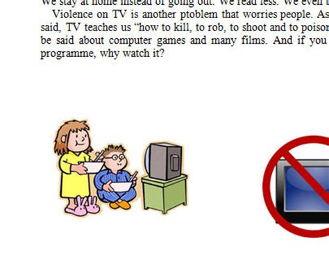 The Effects of Televised Violence on Students